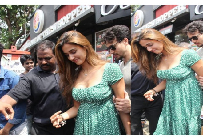 Disha Patani Mobbed By Fans, Tiger Shroff Comes To Her Rescue