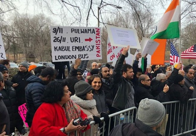 Indian-Americans hold protests outside Pak, Chinese consulates in US
